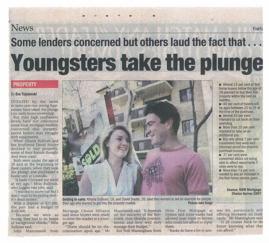 Youngsters Take The Plunge